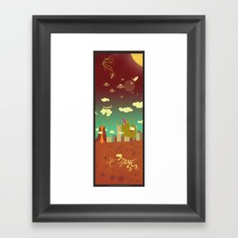The end of the world as we know it! Framed Art Print