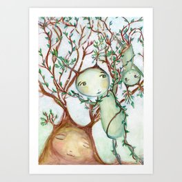 Play Day With the O'Fae Art Print