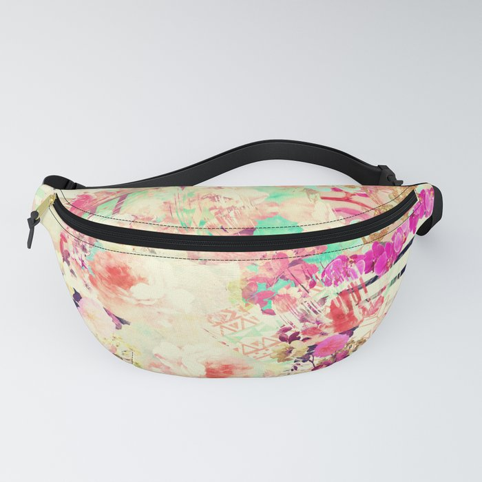 Flowers Mix Vintage Patchwork Fanny Pack