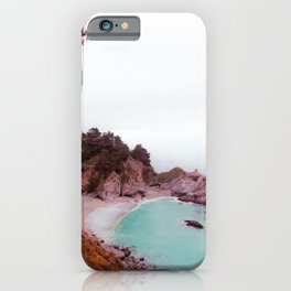 waterfall with beach view at Mcway Falls, Big Sur, Highway 1, California, USA iPhone Case