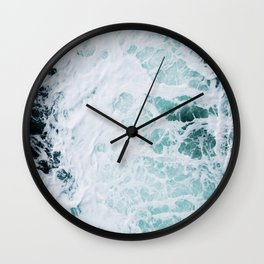 Aerial Ocean View Wall Clock