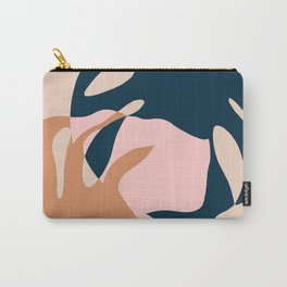 Minimal Monstera Leaves Duo Carry-All Pouch