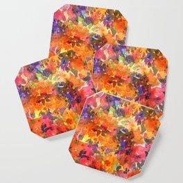 Orange Wildflower Patch Coaster