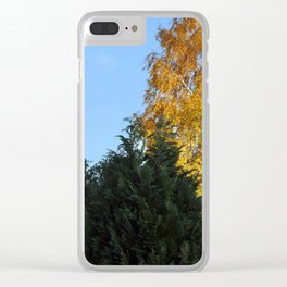 Nature tree yallow green Clear iPhone Case