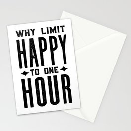 Why Limit Happy To One Hour,BAR WALL DECOR, Home Bar Decor,Celebrate Life,Whiskey Quote Stationery Cards
