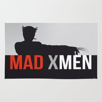 x men Area & Throw Rugs featuring MAD X MEN by Alain Bossuyt