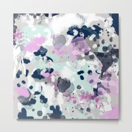 Berti - abstract minimal trendy color palette hipster home decor Metal Print