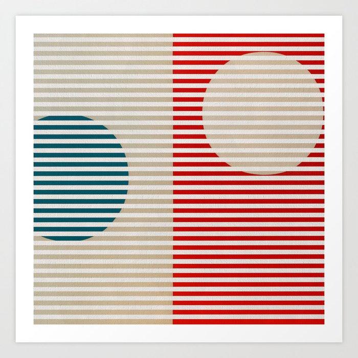 Stripes & Circles 2 Art Print