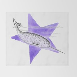 Narwhal Narwhal Throw Blanket