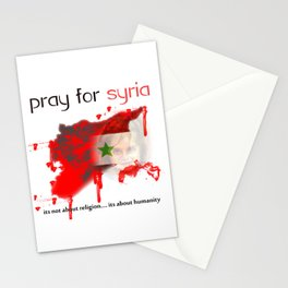 Pray for syria Stationery Cards
