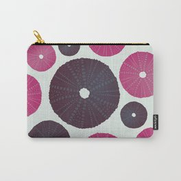 Sea's Design - Urchin Skeleton (Pink & Black) Carry-All Pouch