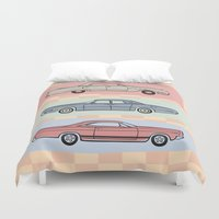60s Duvet Covers featuring Motor Style Inc.: 60s American Heavy Metal by rylee