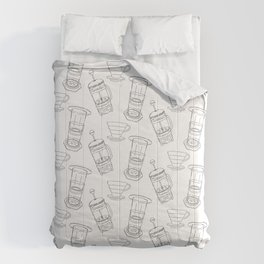 Coffee Brewing Pattern Comforters