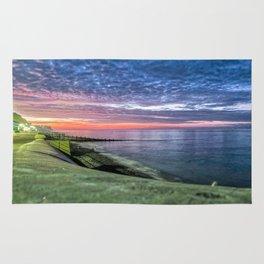 Cromer Beach U.K at Sunset Rug