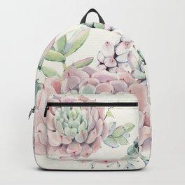 Pink Echeveria A #society6 #buyart Backpack
