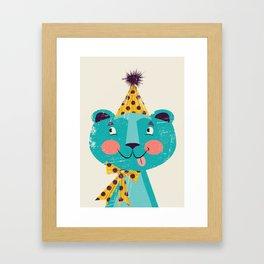 Blue-beary Framed Art Print