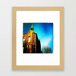 Blue heavens Framed Art Print