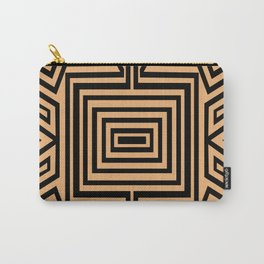 African Geometric Tribal Pattern 2 Carry-All Pouch