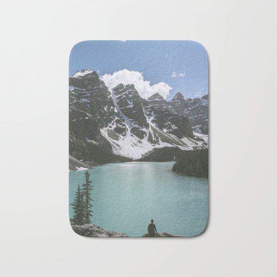 Man and Mountain Bath Mat