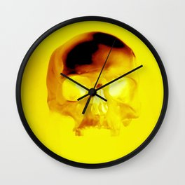 Yellow Skull Wall Clock