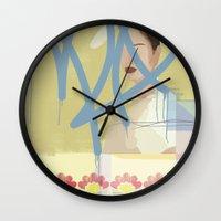 wallpaper Wall Clocks featuring Wallpaper by John Murphy