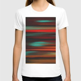 Abstract intense, black red T-shirt