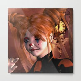 The sweet sad clown Metal Print