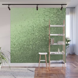 grenn, mintcollage of many small checks for a festive modern pattern Wall Mural