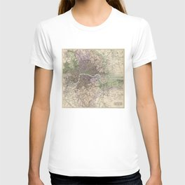 Vintage Map of London England (1872) T-shirt