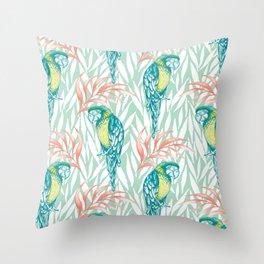 Tropical Pastels Throw Pillow