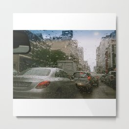 Cape Town traffic on a rainy day Metal Print