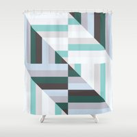 60s Shower Curtains featuring Maze | 60s by Wood + Ink