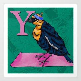 Alphabetical Birds: Y Art Print