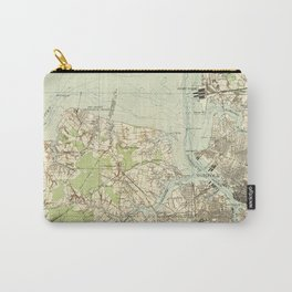 Vintage Map of The Hampton Roads (1918) Carry-All Pouch