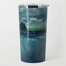 lost in the ocean Travel Mug