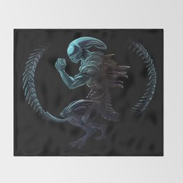 Xenomorph Throw Blanket