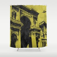 milan Shower Curtains featuring Milan 3 by Anand Brai