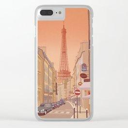 Eiffel Tower Paris Clear iPhone Case