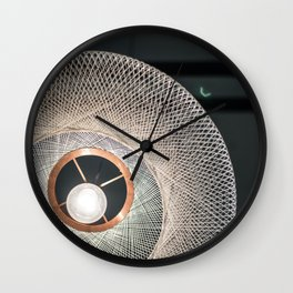 Afternoon Dawns in Rotterdam Marketplace Wall Clock