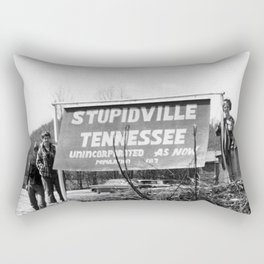 Stupidville Tennessee, Unincorporated for now humorous black and white photography - photographs Rectangular Pillow