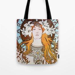 Alphonse Mucha Sarah Bernhardt Vintage Art Nouveau Tote Bag