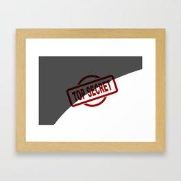 Top Secret Half Covered Ink Stamp Framed Art Print