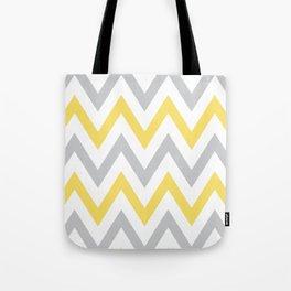 Gray & Yellow Chevron Tote Bag
