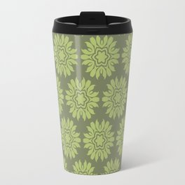 Army Green Flowers Travel Mug