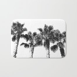 Tropical Palm Tree Photography {2 of 2} | Black and White Bath Mat