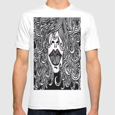 Hair with Lips Mens Fitted Tee White MEDIUM