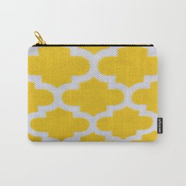 Yellow Cross Pattern Carry-All Pouch