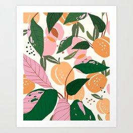 The Peach Garden Art Print