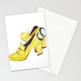 Yellow Heels Stationery Cards