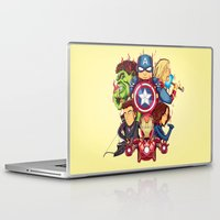 avenger Laptop & iPad Skins featuring The Avenger by rendhy wahyu